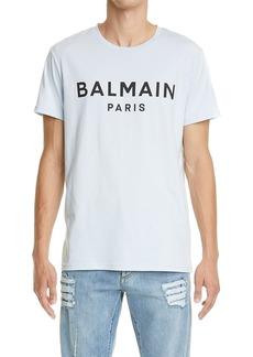 Men's Balmain Logo Cotton Graphic Tee