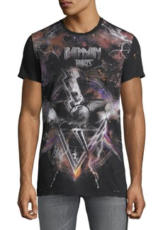 Balmain Men's Galaxy Distressed T-Shirt