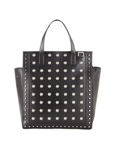 Balmain Men's Studded Leather Tote Bag