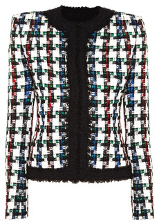 Balmain Metallic Checked Tweed Jacket