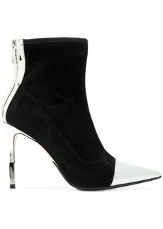 Balmain metallic contrast ankle boots
