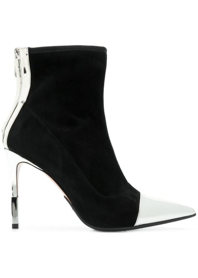 bb061dfa5432b Balmain metallic contrast ankle boots | Shoes