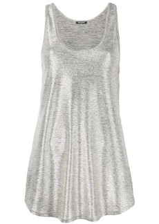 Balmain metallic sheen tank top