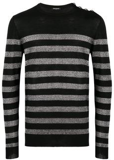 Balmain metallic striped sweater