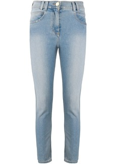 Balmain mid-rise cropped skinny jeans