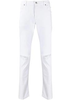 Balmain mid-rise ripped jeans