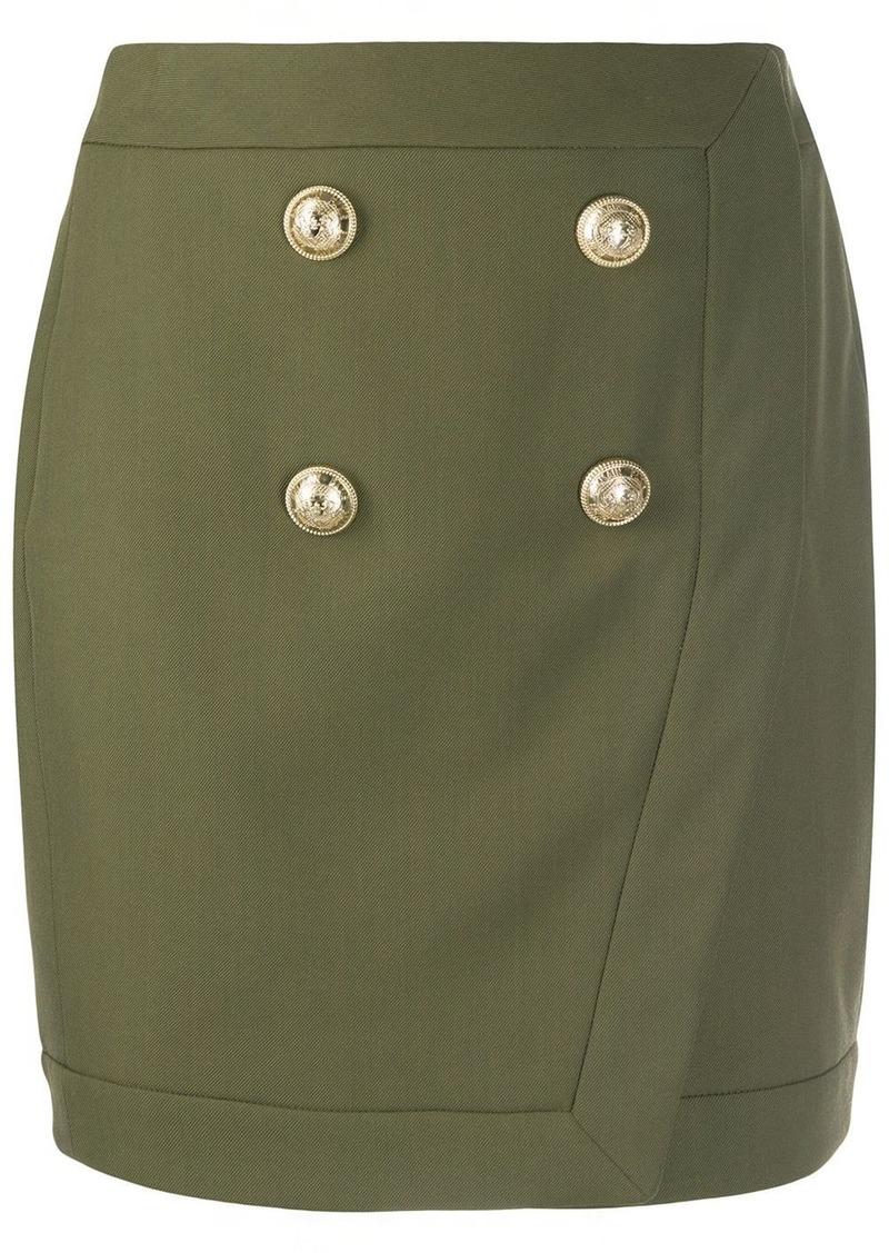 Balmain military mini skirt