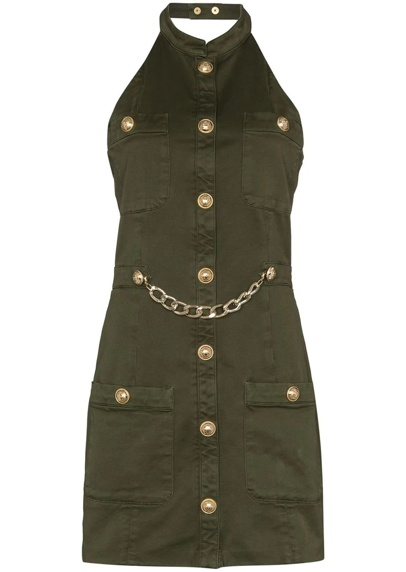 Balmain military-style mini dress