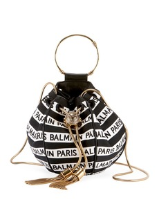 Balmain Mini B Jacquard Bucket Bag