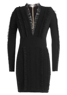 Balmain Mini Dress with Ruffles