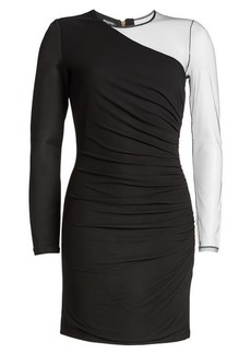 Balmain Mini Dress with Sheer Sleeve