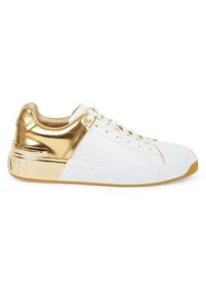 Balmain Mirror Court Leather Sneakers