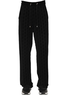 Balmain Monogram Cotton Blend Sweatpants