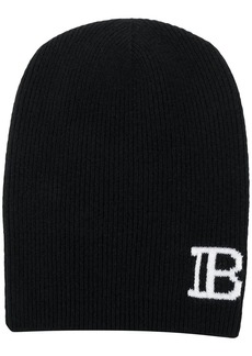 Balmain monogram knitted beanie