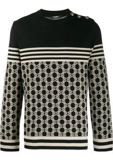Balmain monogram knitted jumper