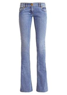 Balmain Monogram Low-Rise Bootcut Jeans