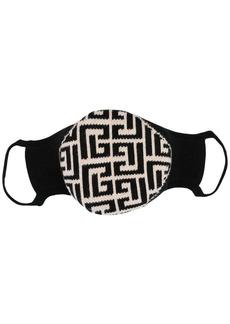 Balmain monogram pattern face mask