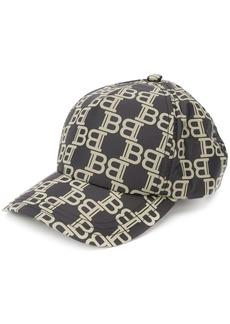 Balmain monogram print baseball cap