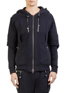 Balmain Moto Hoodie Sweater
