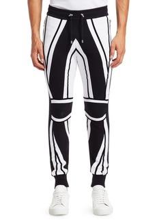 Balmain Moto Stripe Joggers