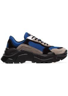 Balmain multicoloured Jace technical suede sneakers