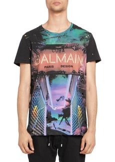 Balmain Neon Logo Tee
