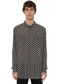 Balmain Over Print Monogram Light Cotton Shirt