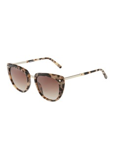 Balmain Oversized Cat-Eye Tortoiseshell Acetate Sunglasses