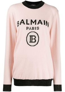 Balmain oversized logo knitted sweater