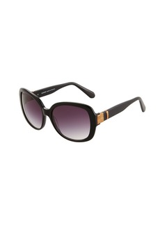 Balmain Oversized Round Acetate Sunglasses