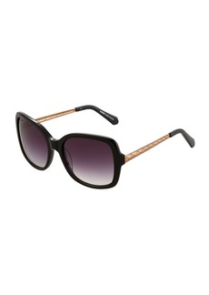 Balmain Oversized Square Acetate/Metal Sunglasses