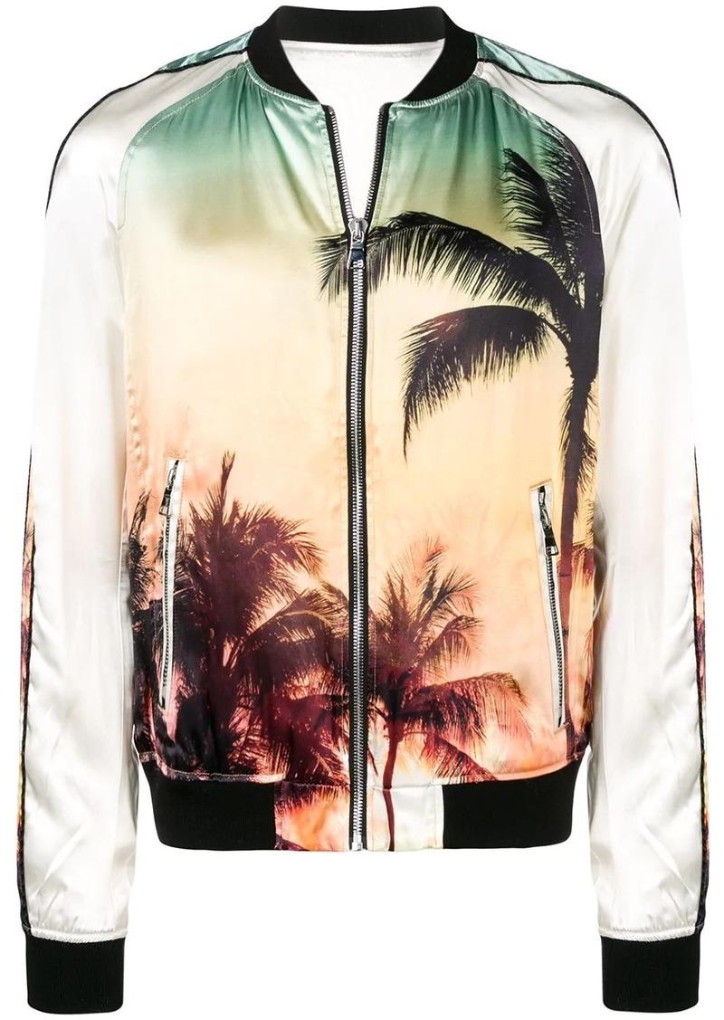 Balmain palm tree bomber jacket