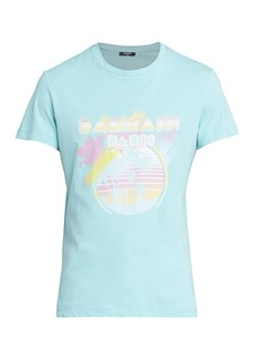 Balmain Palm Tree Printed T-Shirt