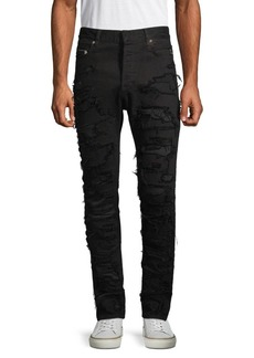 Balmain Patch Distressed Skinny Jeans