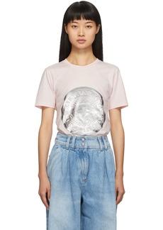 Balmain Pink Coin T-Shirt