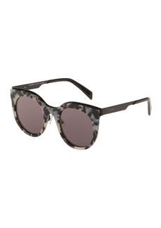 Balmain Plastic Round Tortoiseshell Sunglasses