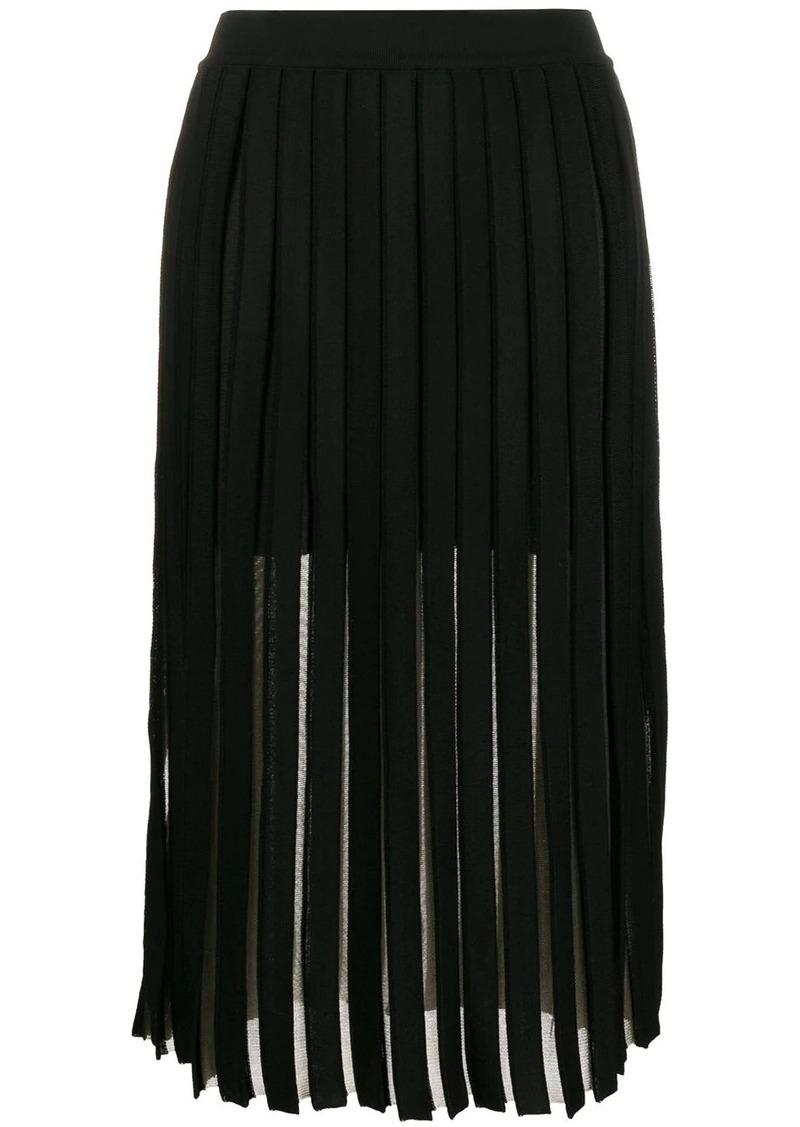 Balmain pleated midi skirt