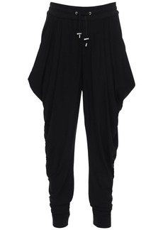 Balmain Pleated Viscose Sweatpants