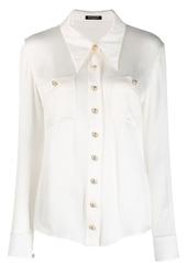 Balmain plisse tailored shirt