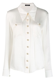 Balmain plisse tailored shirt