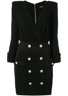 Balmain plunge neck mini dress