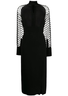 Balmain polka-dot sleeve dress