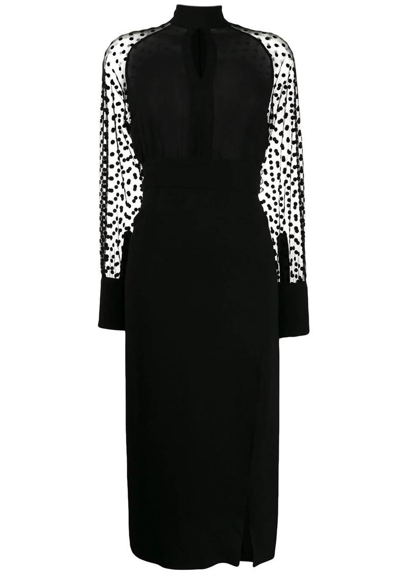 Balmain polka-dot sleeve dress