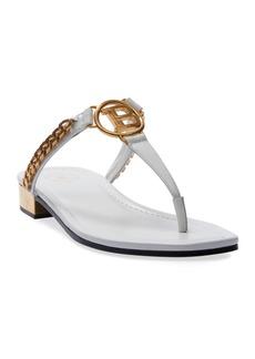 Balmain Presly Flat Leather Sandals