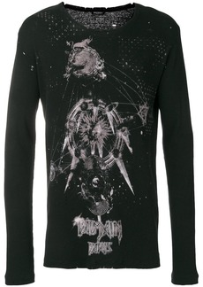 Balmain print long sleeve T-shirt