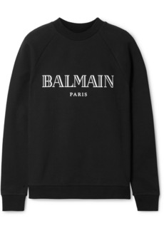 Balmain Printed Cotton-jersey Sweatshirt