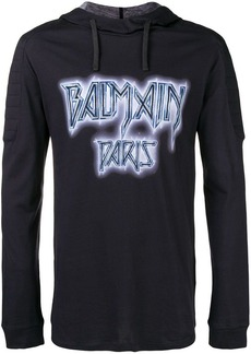Balmain printed hooded T-shirt