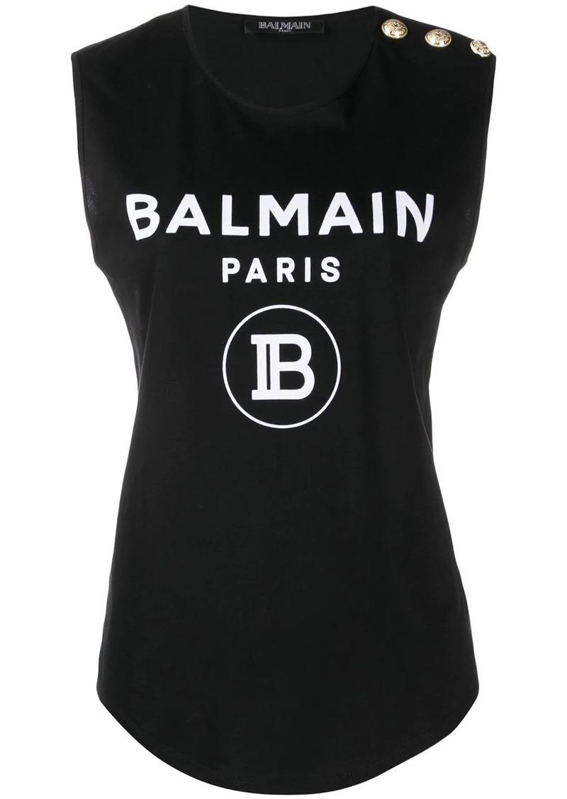 Balmain printed logo vest