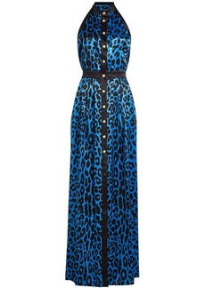 Balmain Printed Silk Gown
