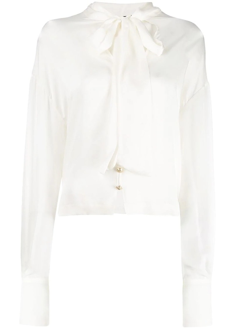 Balmain pussy bow blouse